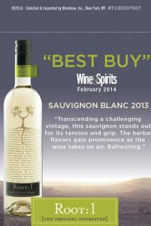 Root: 1 Sauv Blanc 2013 - Wine & Spirits BEST BUY Talker