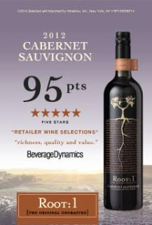 Root1 Cab Sauv 2012 - 95 Points Beverage Dynamics Talker