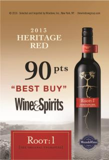 Root:1 Heritage Red 2013 90 pts Best Buy W&S