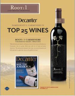 Root: 1 Carmenere Decanter 'Top 25' Sell Sheet