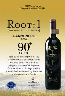 Carmenere 2014 90 Points IWR Shelf Talker