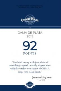 Dama de Palta 2015 James Suckling 92 - Shelf Talker