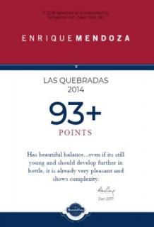 Las Quebradas 2014 93+ Points