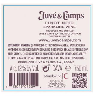 Juve & Camps Brut Rose Back Label