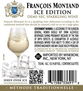 Francois Montand ICE Demi-Sec Back Label