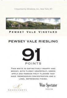 PEWSEY VALE RIESLING 91 PTS WS