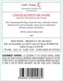 Chateauneuf-du-Pape Back Label