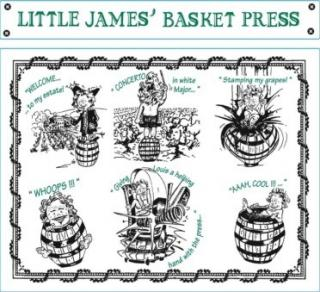Little James Basket Press Blanc Front Label