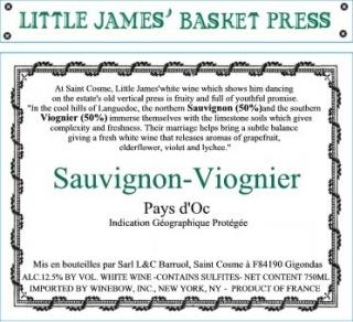 Little James Basket Press Blanc Back Label