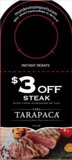 $3 off Steak IRC [FY19]
