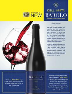 DELL' UNITÀ Sell Sheet Barolo DOCG 2013